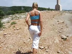 German Lady Flashes During Her H...