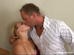 Blonde Whore Fucked On The Stair