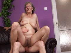 Granny Plays With Herself And A...