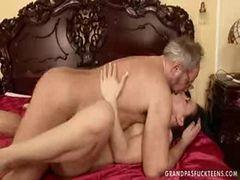 Grandpa Fucking Andamp  Kissing Young Teen Daughter Whe...
