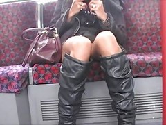 Asian Upskirt On London Undergro...