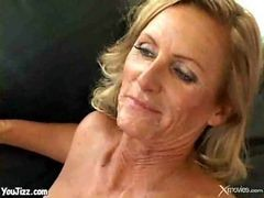 Mature Blonde Wife Takes A Good Anal Pounding While H...