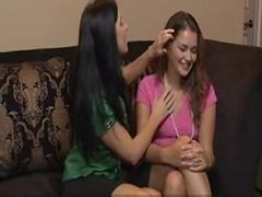 Brunette Babe Forced Young Beauty Allie Haze For Firs...