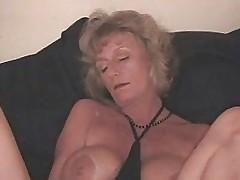 Kinky Granny Using Bottle To Mas...