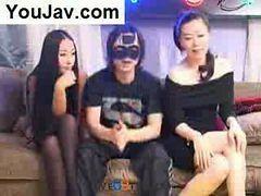 Lucky Chinese Guy Fucking 2 Japanese/korean Girls In ...
