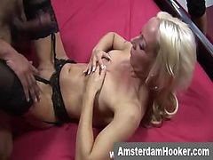 Blonde Hooker Jizzed After Fucksome