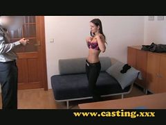 Casting - Beautiful Teen Brunette Gets The Fuck Of He...