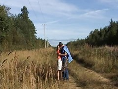 Russian Teen Gives Outdoor Bj