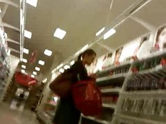 Upskirt At The Make-up Aisle