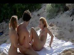 Sexy Trio Banging On The Beach