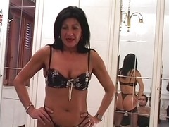 Hot Euro Brunette Granny Banging...