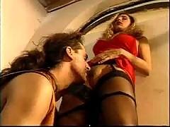 Italian Vixen Does Anal In A Bar...