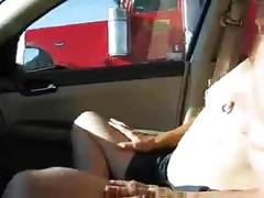 Wife Flashing Truckers