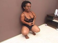 Black Brazilian Mature Midget Fucked Good