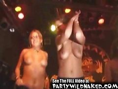 Drunk Party Girls Kissing Night Club Fun
