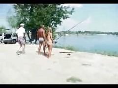 Naked Girl With Big Fishingpole...