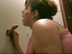 Fat Slut At Gloryhole Gets A Loa...