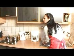 German Housewife Has Sex In The Kitchen