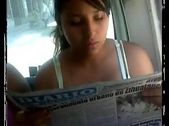 Charapita Tetona En Bus