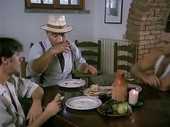 Cute Italian Waitress Gangbanged...