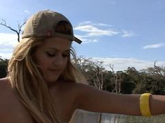 Talita Brandao Brazilian Whore Fucking On The Lake. A...