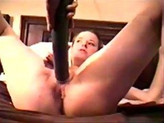 Early 90s - 19-yr Old Squirts Fisted & Cucumber Fucked