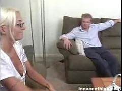 Blonde High School Slut Visits Her Teacher To Fuck