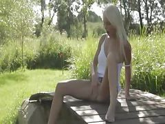 Blonde Glamour From Sweden Touching Clit