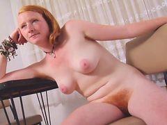 Real Redhead Isadora Nice Pink Tits Hairy Pink Red Bu...