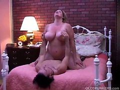Freckled Mature Fatty Gets Pounded From Below