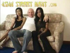 2 Asian Girl Take 1 White Cock 3...