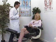 British Blonde Slut Gets Checked...