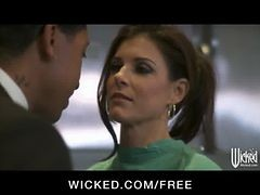 Hot Brunette Doctor India Summer Sucks And Fucks Big-...