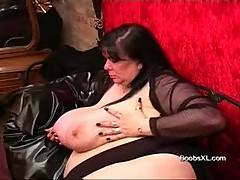 German Goth Bbw Shows Her Amazin...