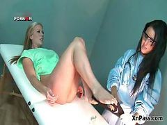 Horny Doctor Fisting Her Blonde Female Part3