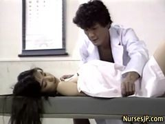 Asian Nurse Bitch Gets A Cumshot