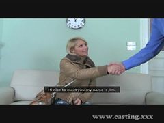 Casting Cute Blonde Amateur