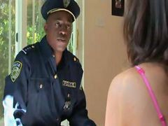 Interracial Force Abuse Of Cute Babe By Black Police Officer
