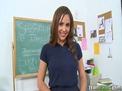 Innocenthigh Sexy Brunette Schoolgirl Teen Sabrina Ta...