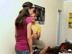College Slut Roxy Entertains The...