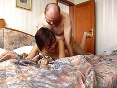 Old Man Cums Inside Annas Tight...