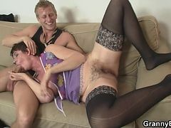 Her Hairy Old Cunt Gets Hammered