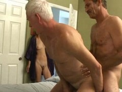 Old Man Slim Girl Bisex