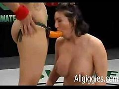 Two Babes Are Using A Strap On Dildo And Eating Some Pussy