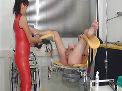 Latex Femdom Ass Exam And Cockmi...