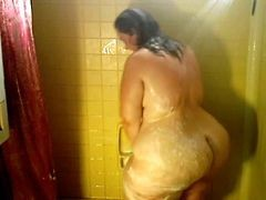 Bbw Shower And Walk Compilation