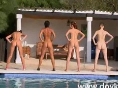 Team Of Six Incredible Naked Girls