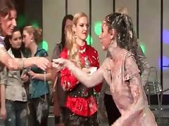Clothed Sluts Get Dirty In Mud Wrestling