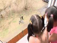 Pigtailed Latinas Fucked In The Fanny