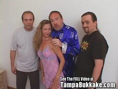 Slut Wife Sherry's Group Sex Tampa Bukkake Slumber Pa...